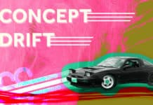 "The words ""Concept Drift"" with the image of a drift car"