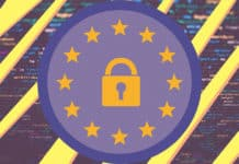 Lock within European Union stars
