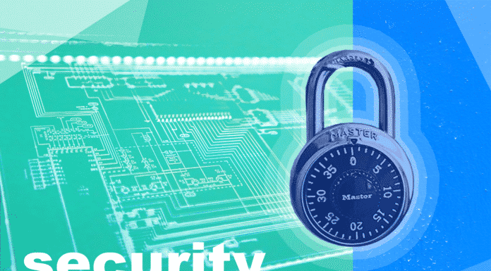 """The text """"Security"""" and a lock"""