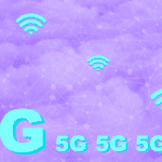 "the text ""5G"" on a purple background with wifi symbols"