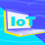 "A colorful image of a laptop with the text ""IoT"""