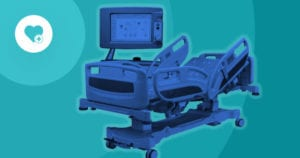 hospital bed and patient monitor