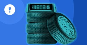 tire pressure monitor on top of tires