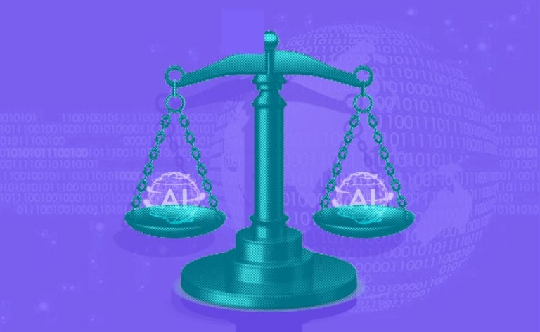 scales of AI law and justice