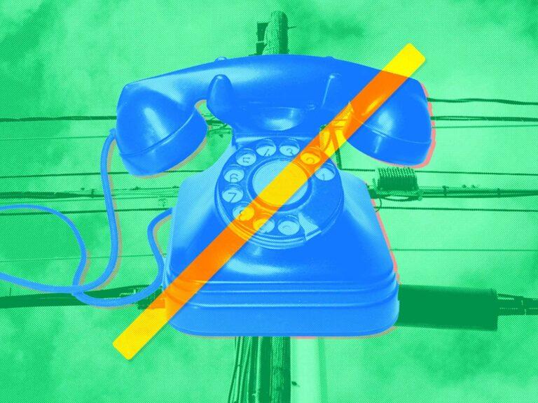 analog phone end